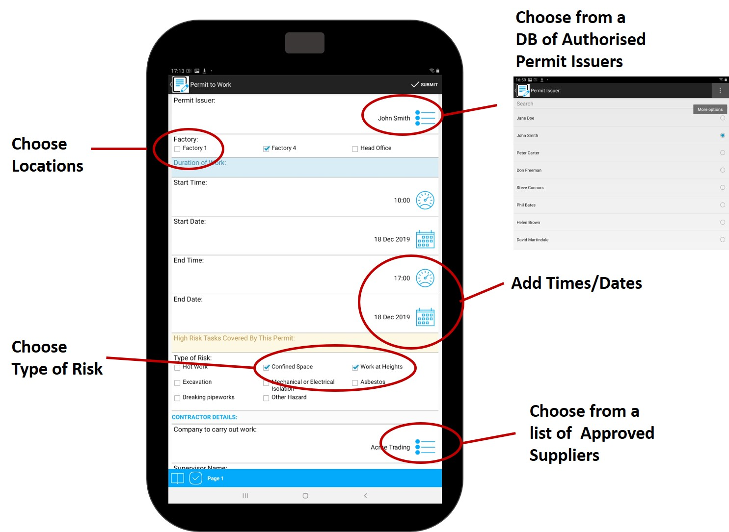 Step2 - Complete new e-PTW form on a mobile device