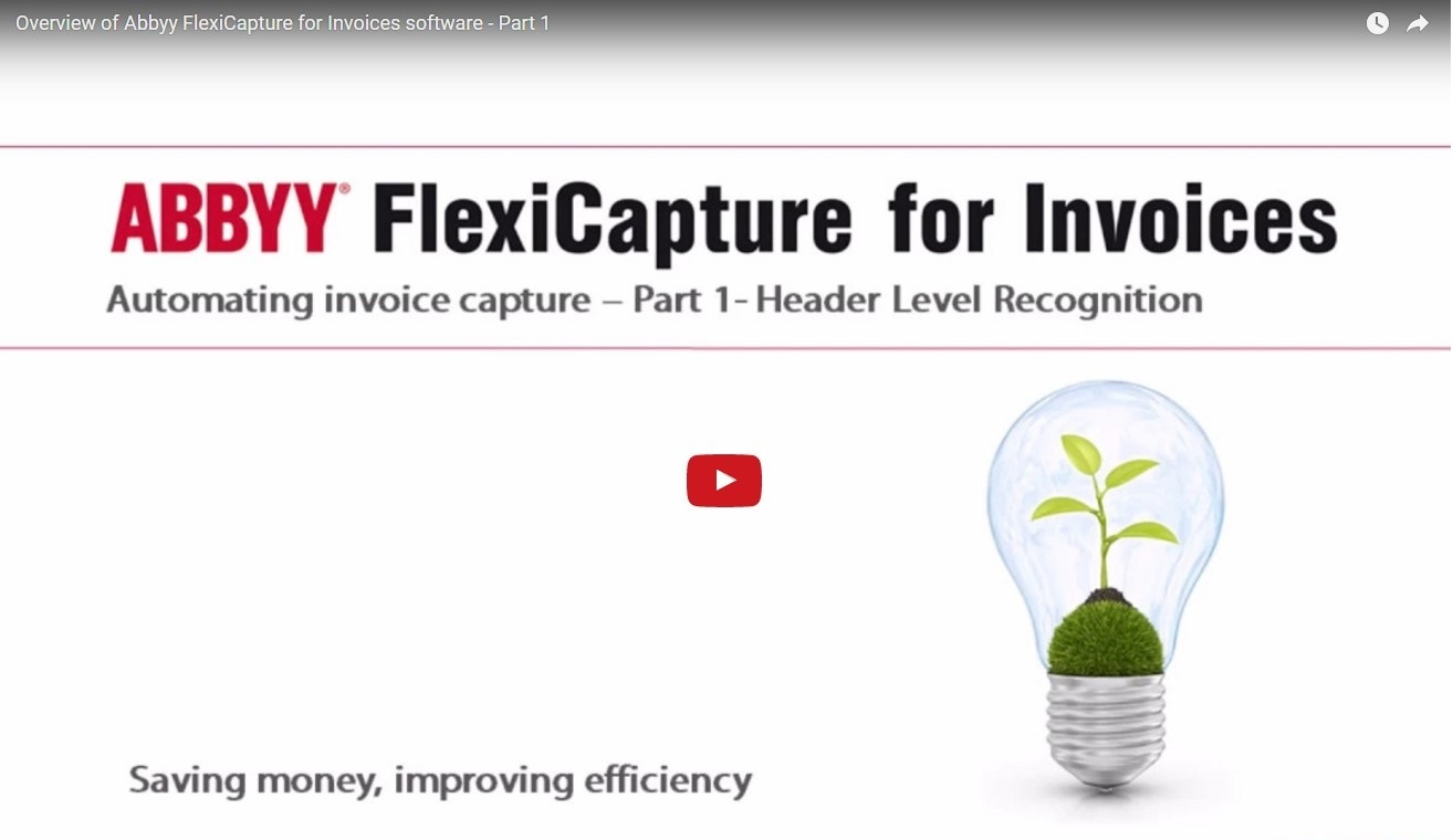 Abbyy Flexicapture for Invoices Video Demonstration Pt1